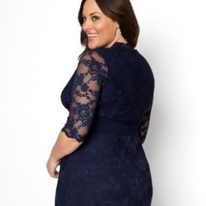 Mother of the bride blue lace dress